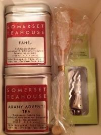 Különleges karácsonyi teaválogatás, teafilterrel és kandiscukorral