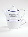 Teapot reggeliző tea kanna és csésze