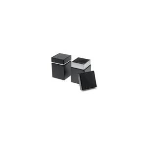 Fekete vastag fedelű kocka 100g teásdoboz