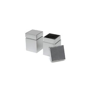 Ezüst vastag fedelű kocka 100g teásdoboz