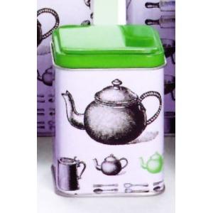 Fekete Fehér teás doboz 50g, méret: 58 x 58 x 80 mm