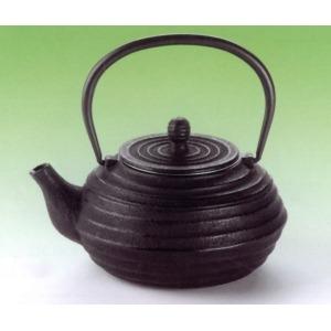 Korongolt barna fém teáskanna 0,7 l
