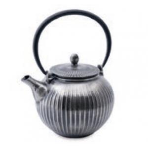 Vaskanna ezüst függőcsíkos 0,85lVaskanna ezüst függőcsíkos 0,85l