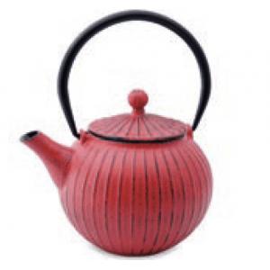 Vaskanna piros csíkos, 0,8l