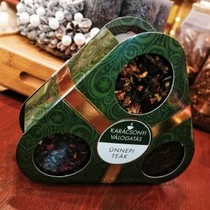 Karácsonyi válogatás díszcsomag 3 féle teával