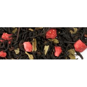 Krémes eper fekete tea
