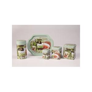 Tea time zöld 100 gr teásdoboz 7,5 x 7,5 x 9,5 cm