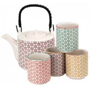 Mina készlet 4 csészévelMina teáskészlet 4 csészével