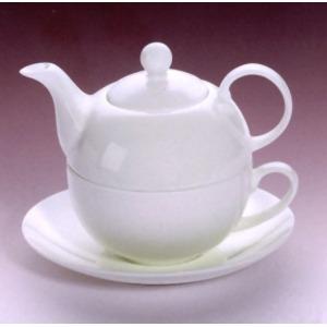 Reggeliző fehér teáskanna, 470 ml-es