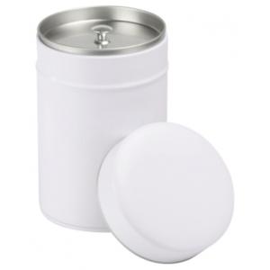 Exclusive kerek (fehér) 150 gr. fém teadoboz