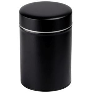 Exclusive kerek (fekete) 150 gr. fém teadoboz