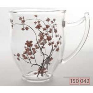 Üvegpohár cseresznyevirágos