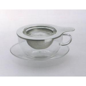 Üveg fémszűrős teáscsésze - Tea for one