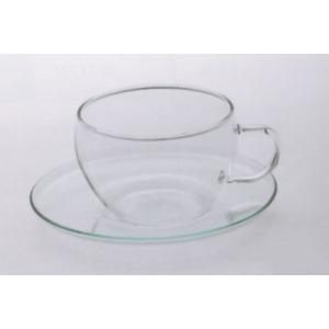 Üveg teáscsésze alátéttel