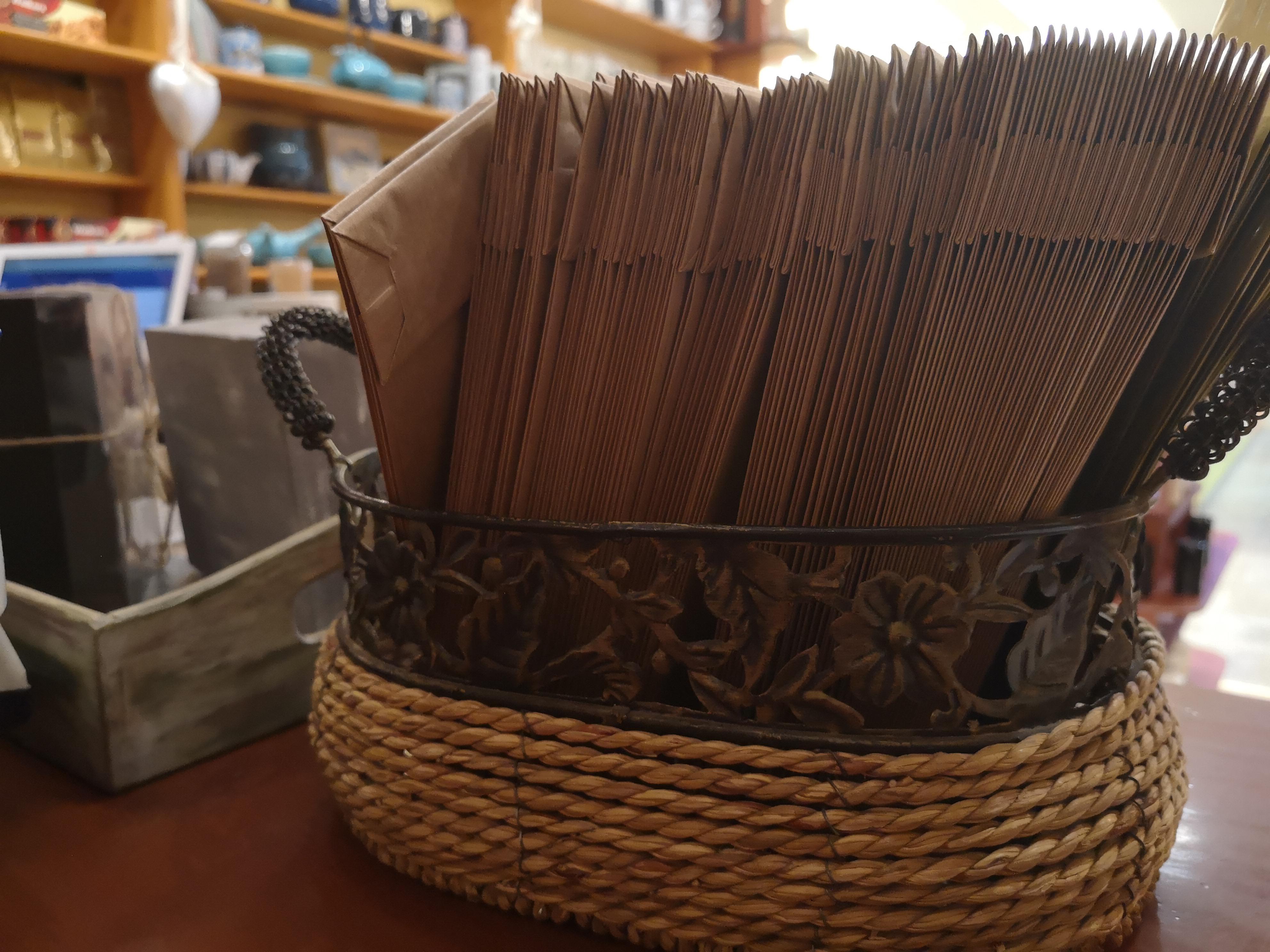 Papír teászacskók