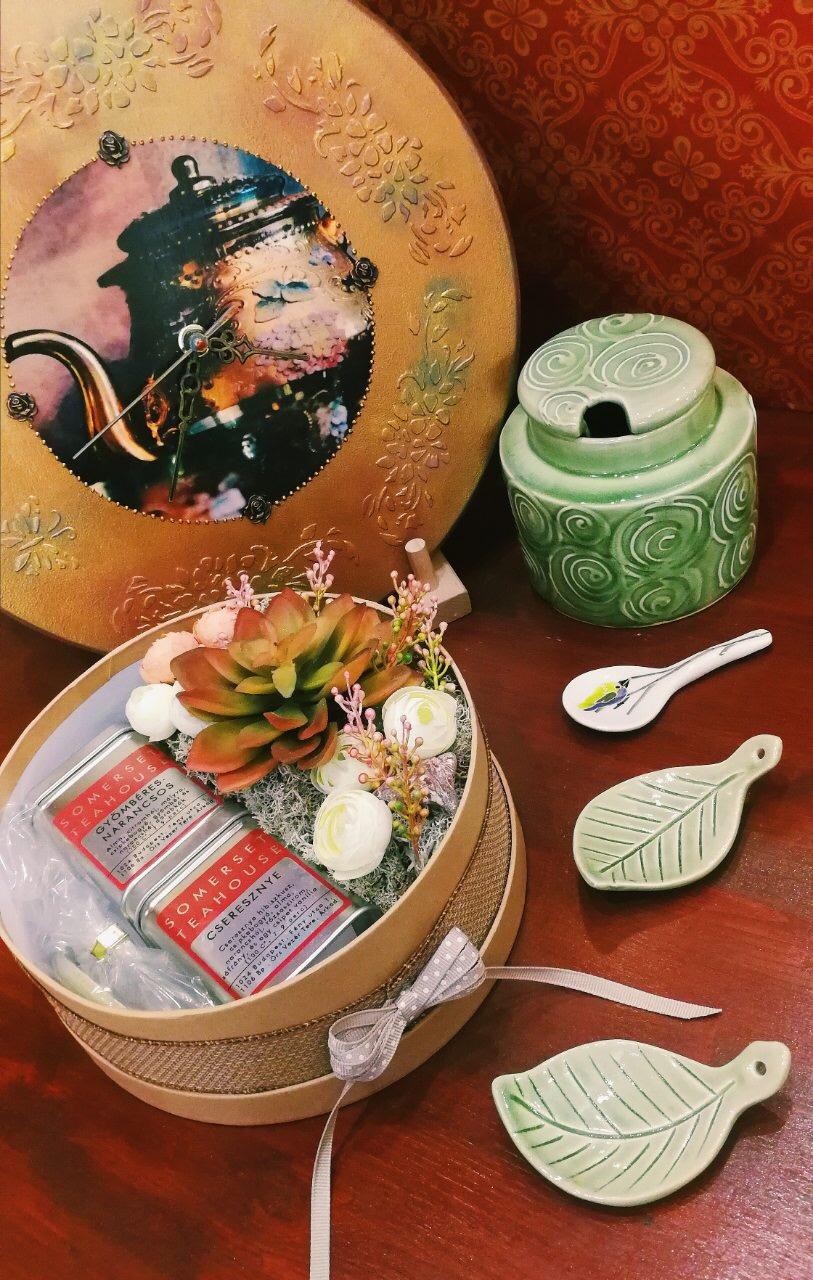 Virágbox teákkal